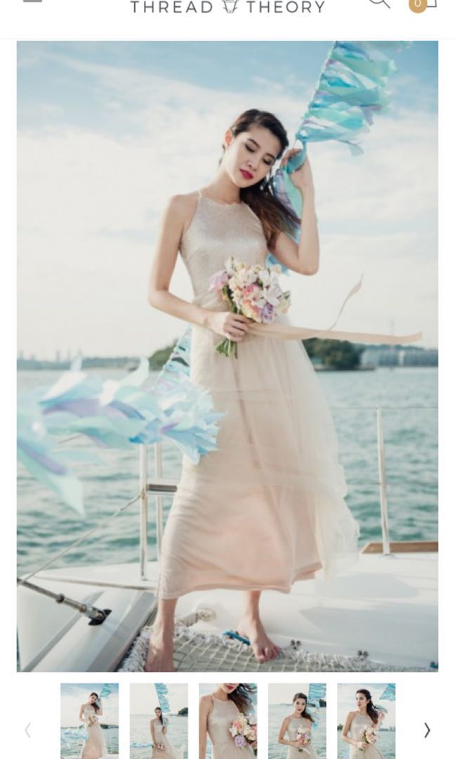 433aac6d681 Exchanging of Wows Sequin Dress (Nude Gold)