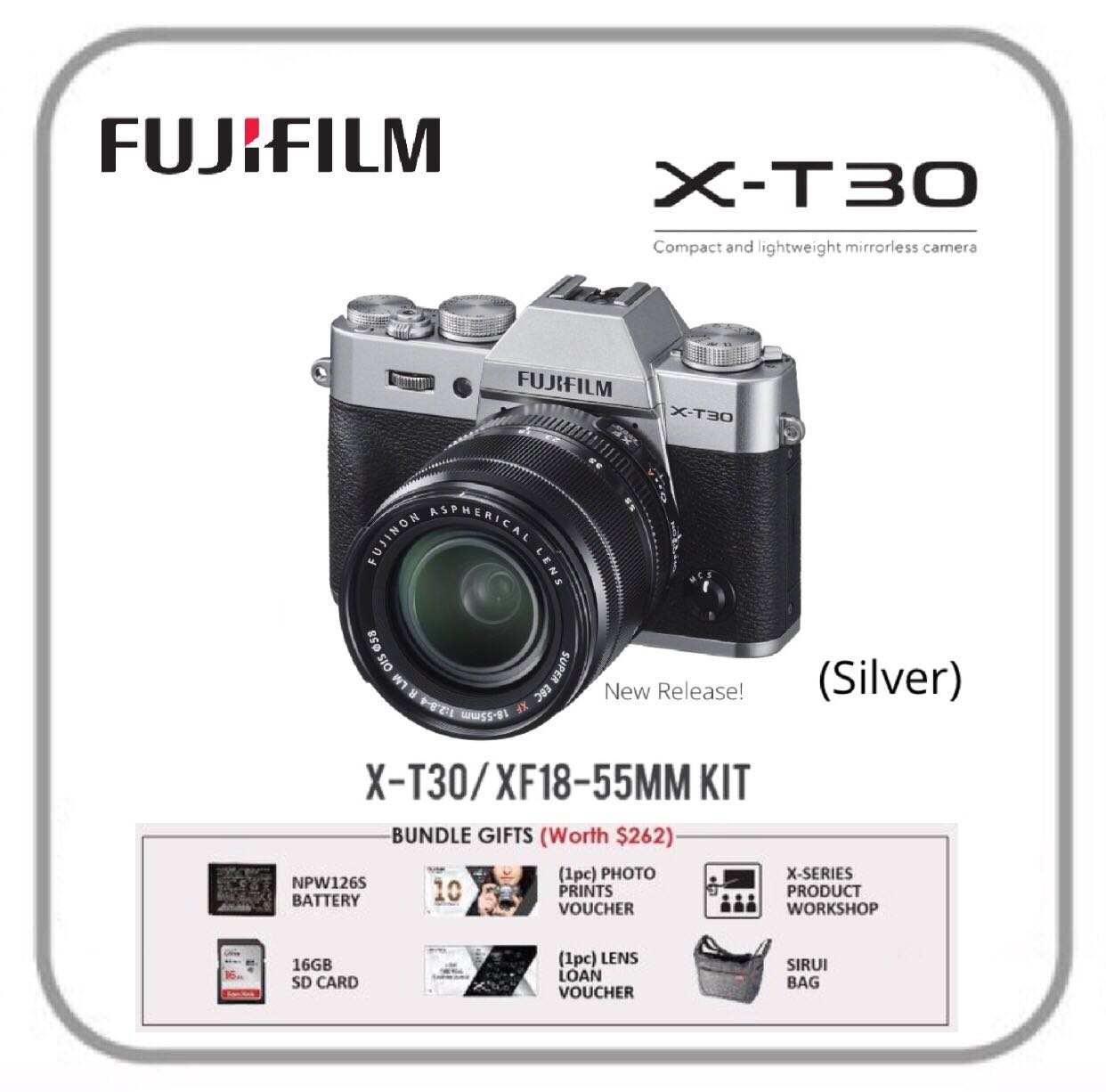 FUJIFILM X-T30 with 18-55mm Lens (Silver), Photography