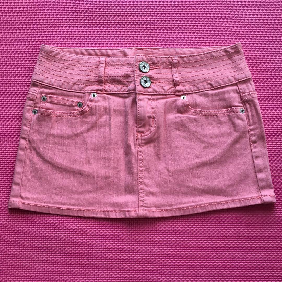 GRAB DENIM Baby Pink Mini Skirt BNWOT