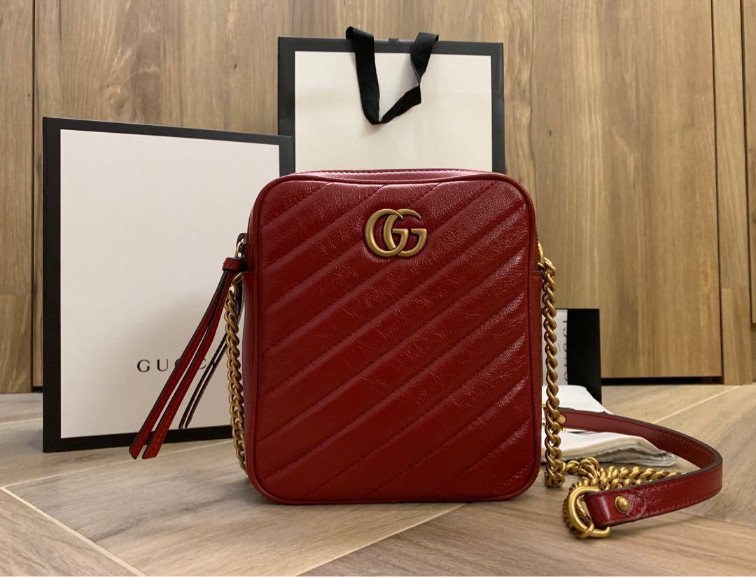 3a027f86446 Gucci GG Marmont Mini Shoulder Red Bag