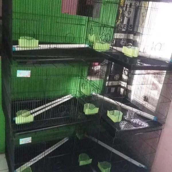 Kandang burung kelinci kucing lipat jeruji besi tipis rapat free ongkir bayar ditempat