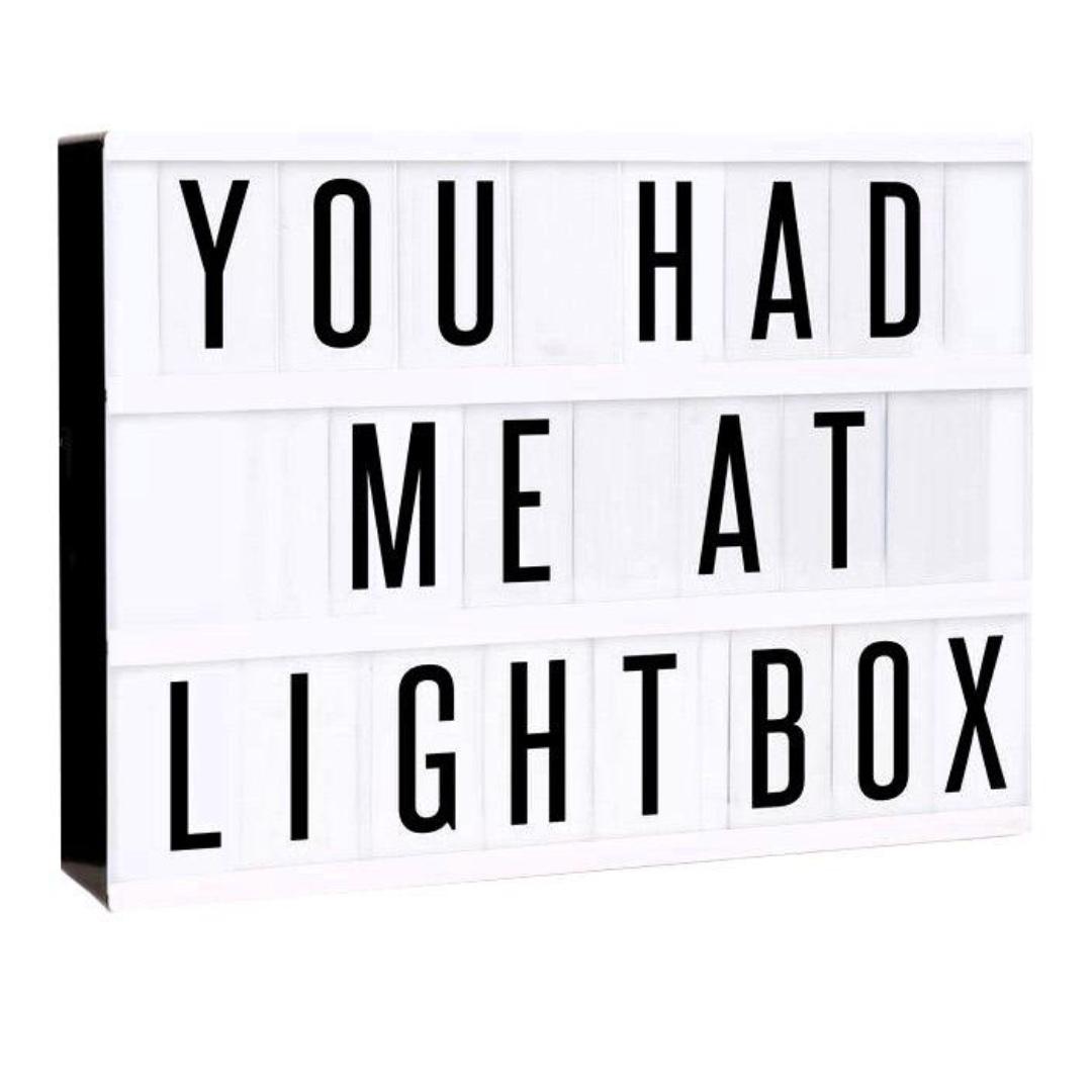 Letter Light Boxes.Livvy Letter Light Box