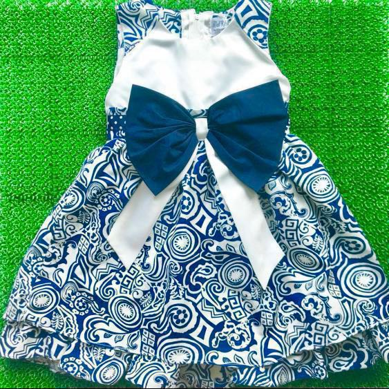4a5a7358fe84 Mall Kids Ribbon Party Dress for Toddler Girls  2-4 years old ...