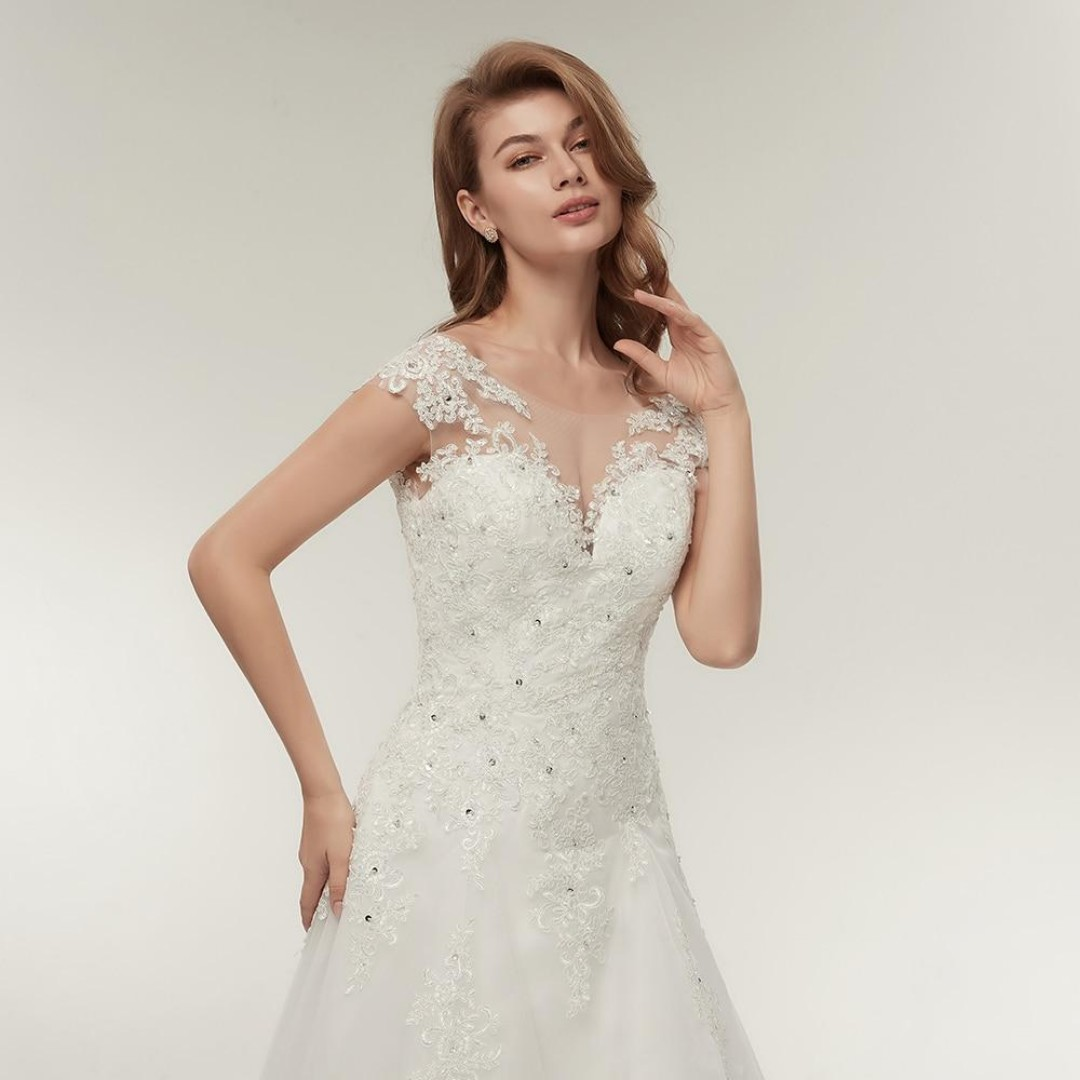 Crystal Embroidered Wedding Dress