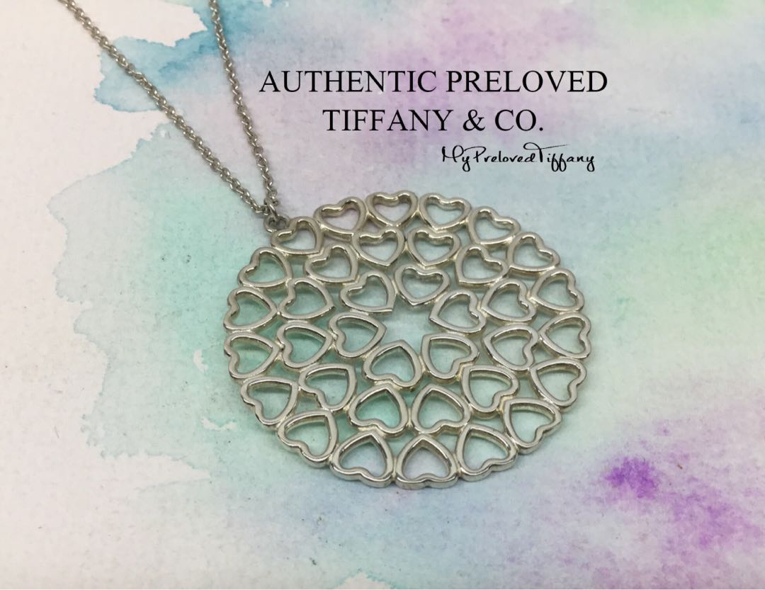 d733ac60c48dc Mint Authentic Tiffany & Co. Paloma Picasso Crown Of Hearts Medallion  Necklace Silver