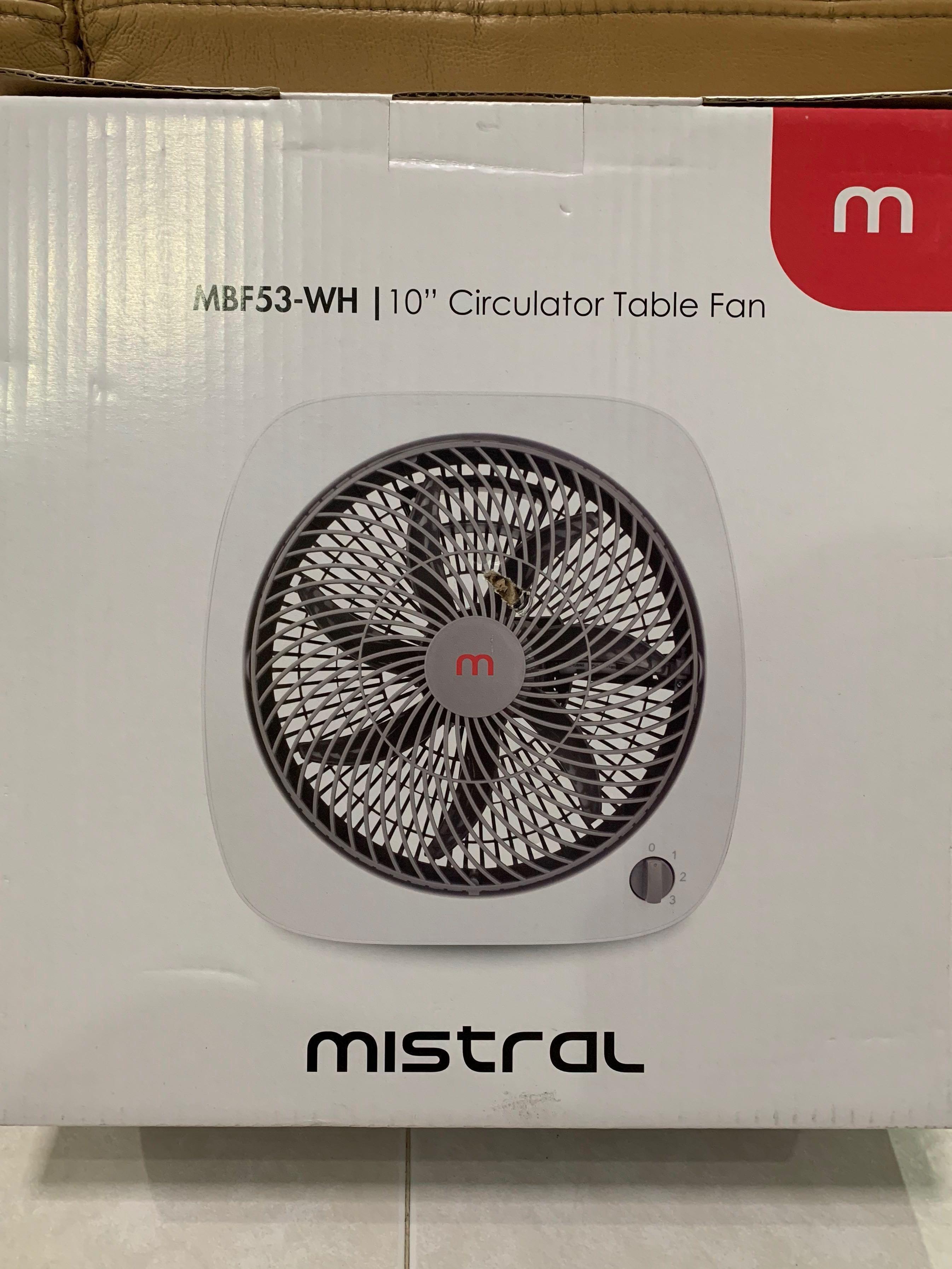 Mistral 10inch Circulator Table Fan
