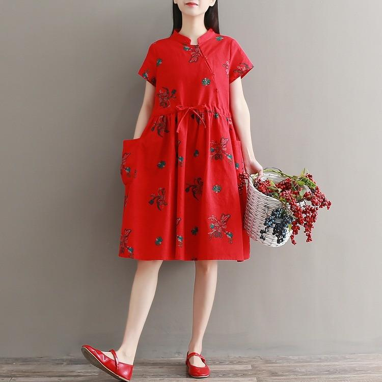 Modern Cheongsam Maternity and Casual Dress
