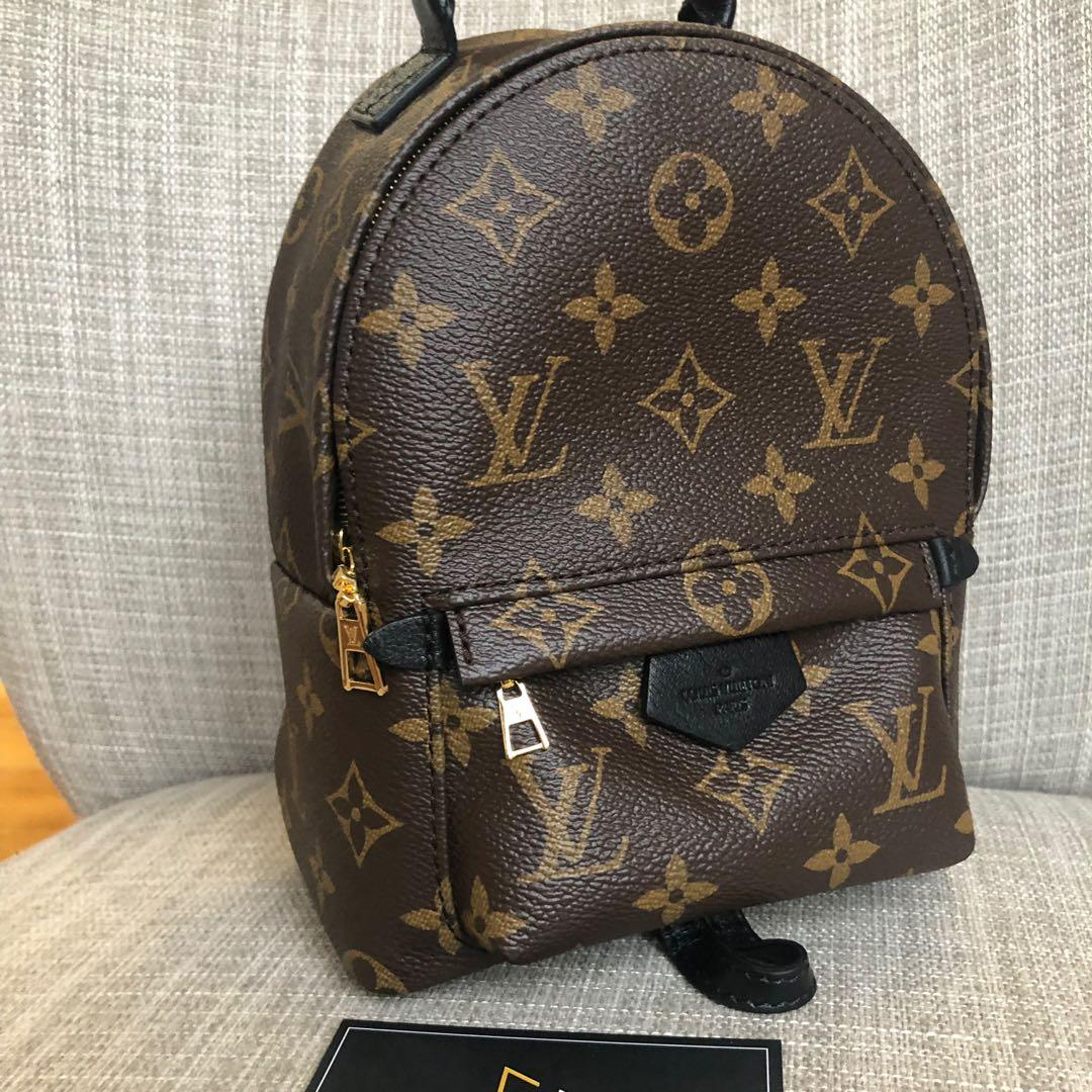 New Authentic Louis Vuitton Mini Palm Springs Backpack