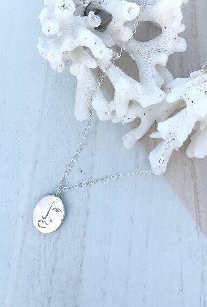 New Wolf circus matisse face necklace - 100% sterling silver
