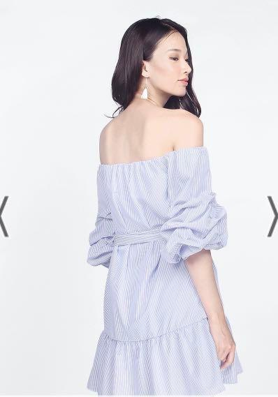 [PREMIUM] Fayth Belissa Dropwaist Dress in Blue