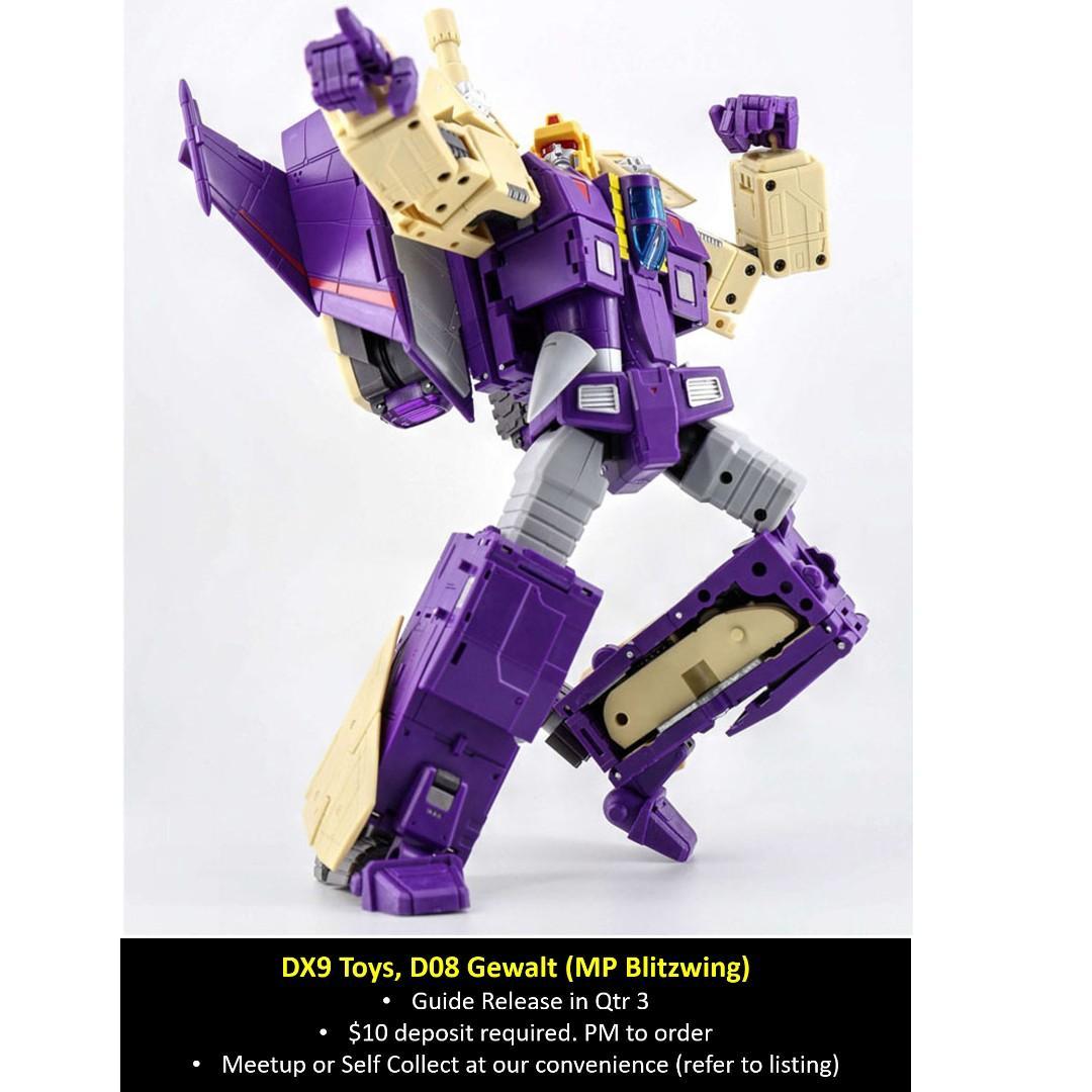 New DX9 toys Transformers D08 Gewalt Blitzwing Action Figure Model MISB In Stock
