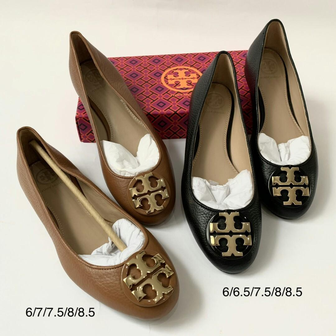 Ready TB Claire Flats in Tan 6/7/7.5/8/8.5 Black 6/6.5/7.5/8/8.5 @3.400.000