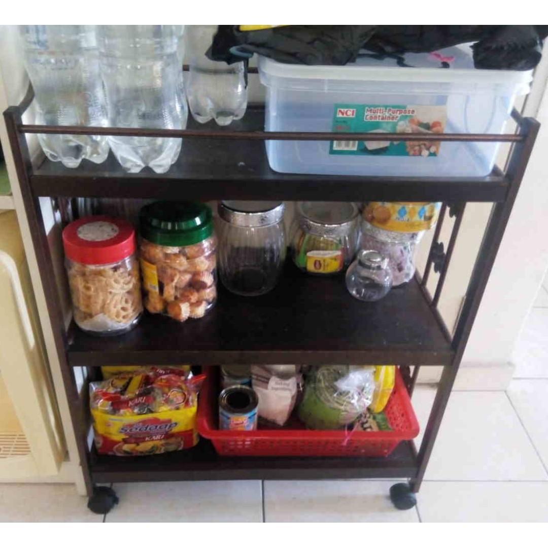 Shelf Trolley Roller Kitchen