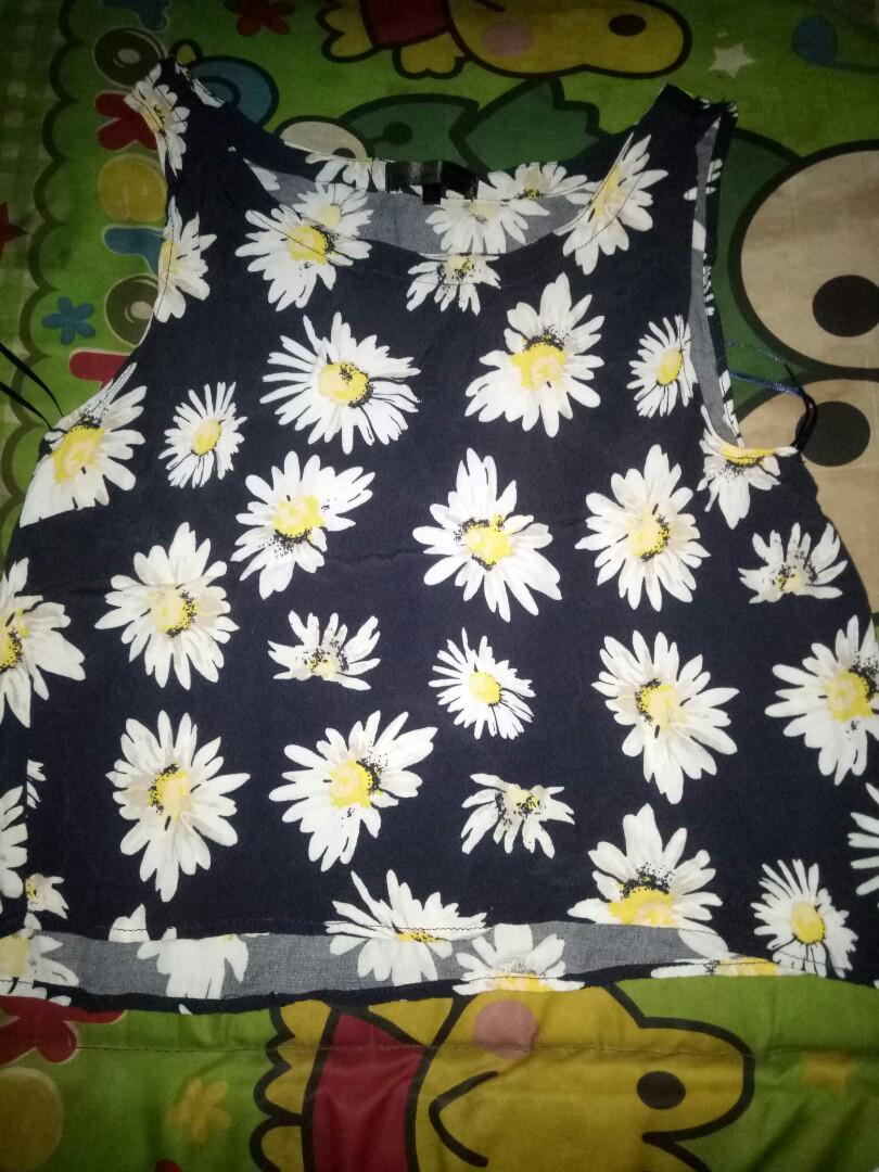 Tank top daisy cotton on