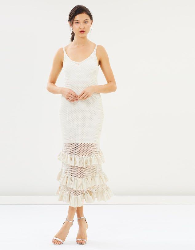We are kindred - Aimee Crochet midi dress RRP. $359 size 8