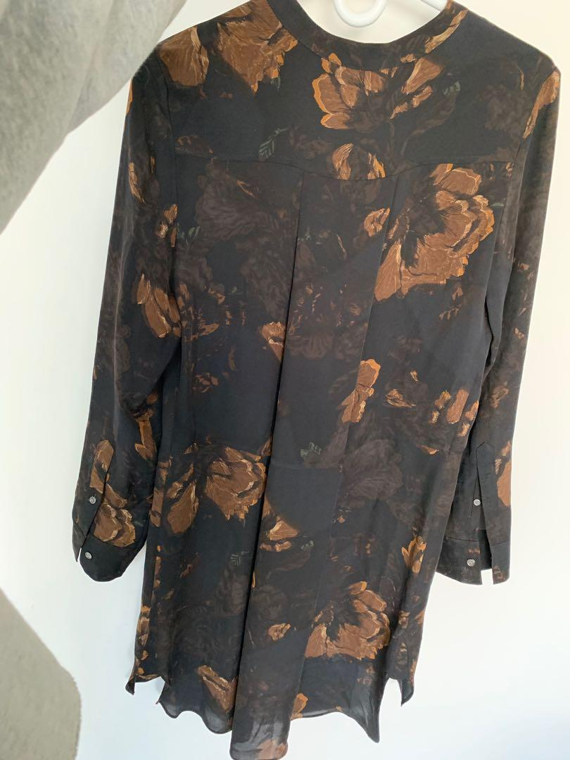 Wilfred floral tunic top