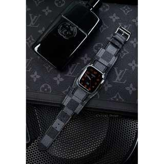 Apple Watch Series 4 Band | Cuff Style Apple Watch 40mm Band 44mm Band | LV Apple Watch Band Louis Vuitton iwatch Band LV | Damier Grapite