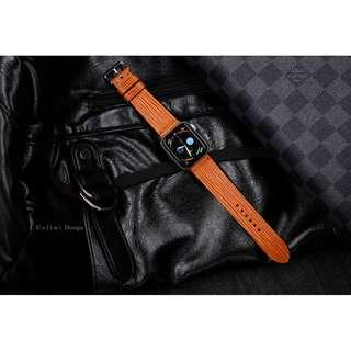 Orange EPI Watch Band | Apple Watch Series 4 Band | Apple Watch 40mm Band 44mm Band | LV Apple Watch Band Louis Vuitton iwatch Band LV |