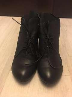 真皮短boot