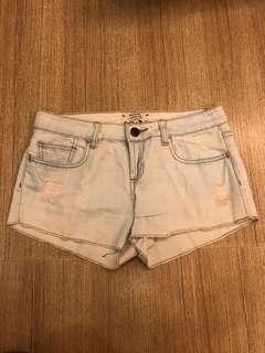 Jeans Shorts White Wash