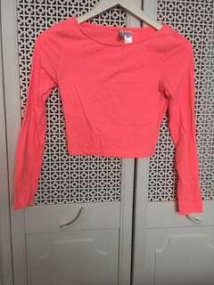 Pink long sleeves top