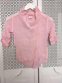 Joe Fresh girl pink stripes top
