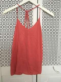 Abercrombie Women's Strap Coral Top