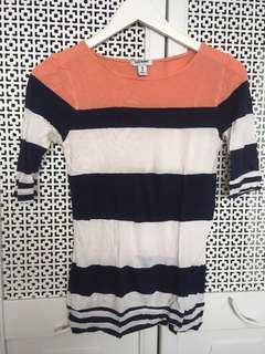 Old Navy Multicoloured Stripe Long Sleeve Top