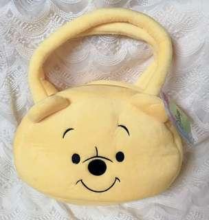 全新❤️雷標 小熊維尼 絨毛手提包 提袋 兒童 包包