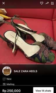 Zara heels baru pake sekali