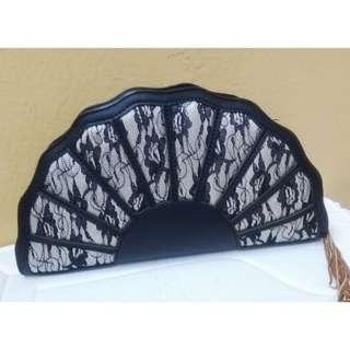 Christy Ng Signature Fan Clutch Black