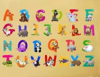 Instock BNIP Alphabets Wall Stickers