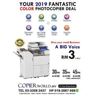 Copy Machines Rm3 a Day Color Printer Scanner A3 A4 Print & Copy Solution We Give You Free Service Free Toner