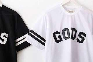 🚚 GODS 網眼籃球風 寬版Tshirt 二手