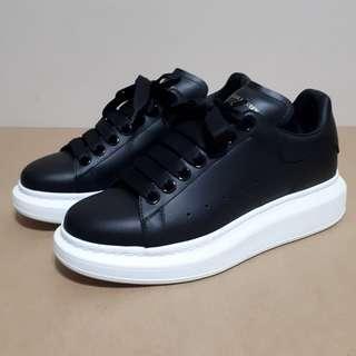 Alexander McQueen Womens Black Oversized Sneakers Size 37