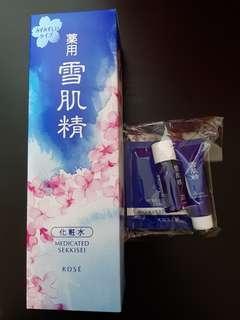 kose  雪肌精500ml +洗顏霜+潔顏油+水面膜(含運)