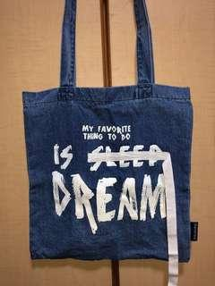 bershka denim tote bag BN