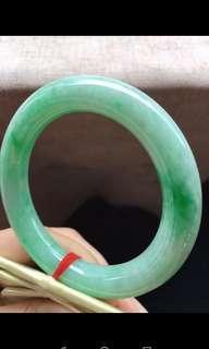 綠圓條手鐲58-11.2mm正圈59/60可戴 種老,種水一流,水潤色媚,靚麗,完美,超值¥20600