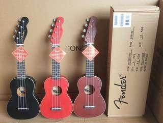Fender Ukulele with Bag 芬達 夏威夷結他 四弦琴連袋 三色任選 只售 280 元