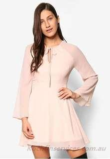 Something Borrowed Flare Sleeve Fit and Flare Dress