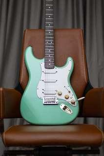 Fender stratocaster jeff beck suf green made in usa