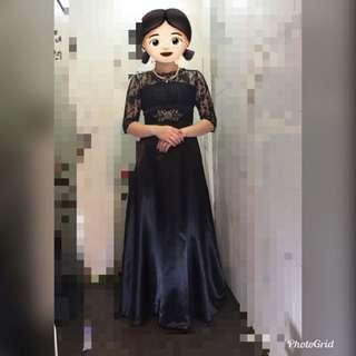 晚裝,晚禮服裙,黑蕾絲長裙