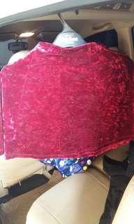 Rok mini pull n bear merah velvet