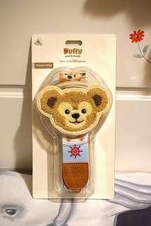 香港迪士尼 Duffy 大頭造型連拉鏈袋仔 相機帶 / 相機繩