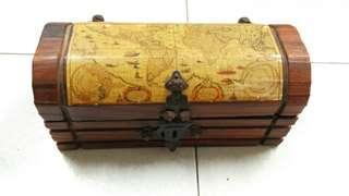 西班牙 手造原木首飾箱 首飾盒