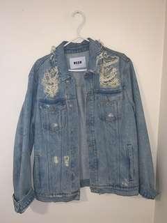 Boyfriend fit jean jacket
