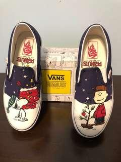 Vans Snoopy and Friends (Peanuts) Christmas Edition Classic Slip Ons (Size 6.5 Women and Size 5.0 Men)
