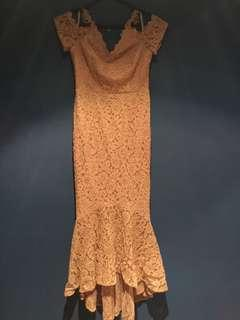 Formal gowns gold sequin boob tube dress size 6 Soft pink size 10 worn for two hours bought $199