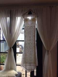 Jadore white lace dress