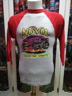 Vintage 70s 3 Quarter Nova 50/50 Raglan T shirt